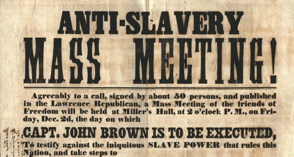 "Bill Thomas Says:  ""I Am An Abolitionist"""
