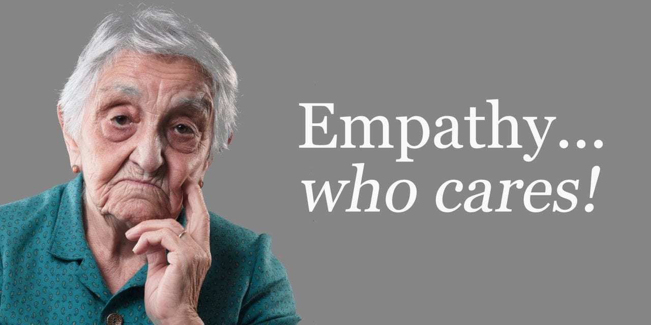 Empathy and Sales: Who Cares!